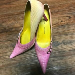 Chinese Laundry Pointy Heels |Pink/Yellow |Sz 7.5M